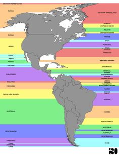 What country is directly across the ocean from you.