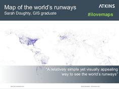 "Map of the world's runways: ""A relatively simple yet visually appealing way to see the world's runways"" #ilovemaps"