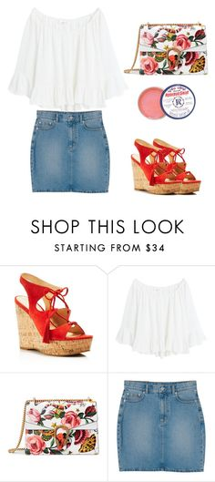 """Mandarina"" by spacevolt ❤ liked on Polyvore featuring Ivanka Trump, MANGO, Gucci and Monki"