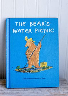 Vintage Childrens Book The Bears Water Picnic 1970s Retro