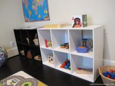 Montessori In the Home {Play & Learning Space} from Carrots Are Orange