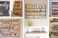 26 Rustic Wood Sign Ideas with Inspirational Quotes That Will Melt Your Heart