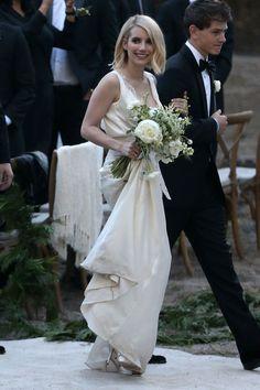 Emma Roberts as a Bridesmaid at Kara Smith's Wedding in LA, 11/14/15