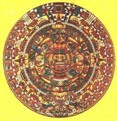 Calendario Azteca. Piedra del Sol. Cultura Azteca