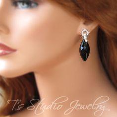 Little+Black+Dress+++Elegant+Swarovski+Crystal+Navette+by+TZTUDIO,+$55.00