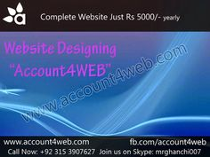 Account4WEB || Web Hosting in Pakistan.: Professional Business Web Design and Development C...