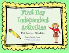 Classroom Freebies: First Day of 2nd Grade
