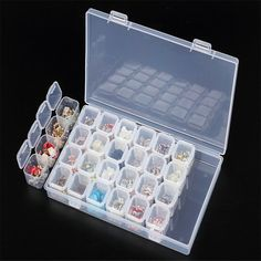 Buy LASPERAL 28 Slot Nail Art Storage Box Jewelry Organizer Holder For Diamond Painting Accessories Plastic Transparent Display Case Necklace Storage, Earring Storage, Bead Storage, Art Storage, Plastic Box Storage, Jewellery Storage, Jewellery Display, Storage Boxes, Jewelry Box