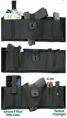 Conceal Carry Gun Holster, Flexible Neoprene, Wide, Right or Left Hand Draw, Comfort Belly Band fits Compact to Full Size Pistols Bar Accessories, Fashion Accessories, Cigar Men, Conceal Carry, Tactical Clothing, Gun Holster, Belly Bands, Pistols, Survival Gear