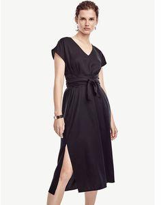 Petite Belted Cap Sleeve Dress