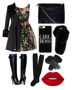 """black fur😻"" by alda-naura ❤ liked on Polyvore featuring Dolce&Gabbana, Miss Selfridge, Boohoo, Aéropostale, Casetify and Lilly e Violetta"