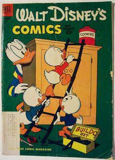 Vintage Comic Book - Walt Disney's Comics and Stories # 147 by riptheskull, via…