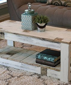 Look what I found on #zulily! White Farmhouse Coffee Table #zulilyfinds