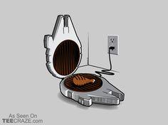Grillenium Chicken T-Shirt - http://teecraze.com/grillenium-chicken-t-shirt/ -  Designed by Droidloot    #tshirt #tee #art #fashion #clothing #apparel #StarWars