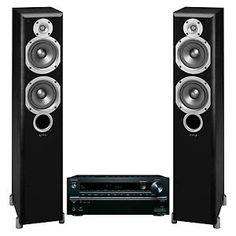 Buy Onkyo TXNR646 7.2 Channel w/ Infinity Primus P253 Floorstanding Speakers (Black)