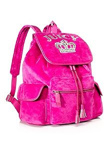 Royal Iconic Velour Backpack.♡ by tiffany