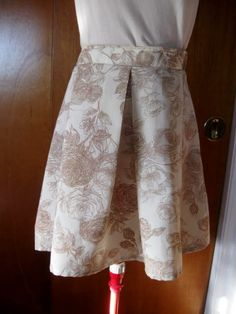 Full Pleated Modest Floral Skirt Free Size by HappyRagz on Etsy