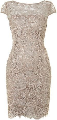 Adrianna Papell Cap Sleeve Lace Dress - Lyst