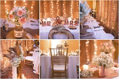 Rustic bling wedding cute wedding ideas outdoor wedding caroline and adrian married in muskoka on perfect rose gold decor flowers burlap backdroprose gold decorrustic chic weddings junglespirit Image collections