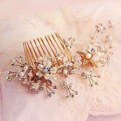 Star Fashion bridal headdress hair ornamen handmade crystal rhinestones Continental golden comb shape shine wedding accessories