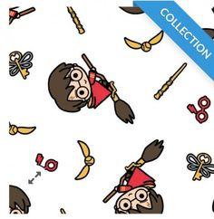 Harry Potter Kawaii Broomstick Cotton Fabric Harry Potter Fabric, Nightwear, Cotton Fabric, Snoopy, Kawaii, Weddings, Prints, Fictional Characters, Art