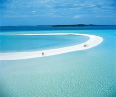 Musha Cay, Bahamas - 3 mile sandbar, a crescent shaped white sand marvel that magically unveils itself with the tides. This tiny paradise becomes the venue for an unforgettable lunch or sunset cocktails, or the perfect place to tie the knot as a few A-list celebrities have.