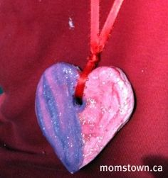 Salt Dough valentine necklace - so fun to make together!