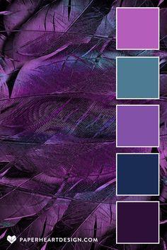 Color Schemes Colour Palettes, Colour Pallette, Color Combinations, Purple Color Schemes, Popular Color Schemes, Graphisches Design, Graphic Design, Interior Design, Lila Palette