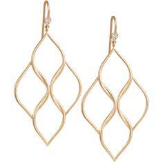Jamie Wolf Woven Aladdin Chandelier Earrings ($2,100) ❤ liked on Polyvore featuring jewelry, earrings, 18k earrings, braid jewelry, jamie wolf, woven earrings and round earrings