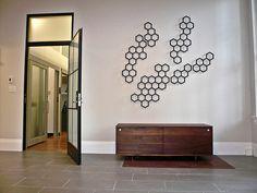 hex hive wall treatment