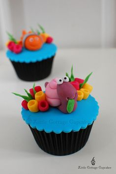 My Dopey Sea Snail! by Little Cottage Cupcakes, via Flickr. WAY too cute!
