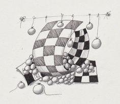 Studio ML: #DviaChallenge 137 ~ #Zentangle by Mariet in the Netherlands