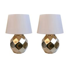 Hexagon Ceramic Brass Lamps by Chapman  facited lamps #lighting