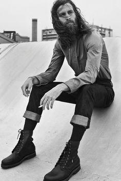long hair beard