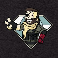 Metal Gear Solid V & Fallout T-Shirt: Vault Boss