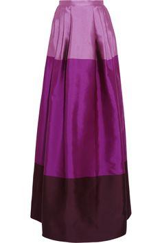 Temperley London|Long Freesia satin-twill maxi skirt|NET-A-PORTER.COM