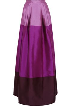 Temperley London | Long Freesia satin-twill maxi skirt | NET-A-PORTER.COM
