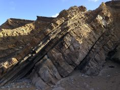 Weathered rock strata - Widemouth Bay
