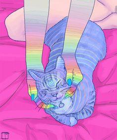 f356ba89bb134 Gato Psicodélico Gato Psicodélico, Wallpapers Desenhos, Imagens Animadas,  Colagem, Curtidas, Viagens