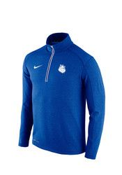 Nike SLU Mens Blue Game Day 1/4 Zip Performance Pullover