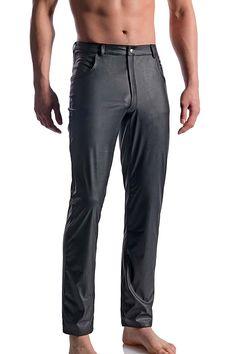 MANstore Black Jeans M104, Leder Optik von www.easyfunshop.net