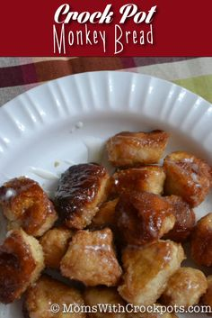 Let me just apologize now because your life may never be the same.  Hello Crock Pot Monkey Bread.  ...