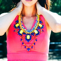 M E L O D Y  Neon Jewelry by TrendBoutique on Etsy, $170.00