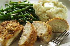 Crunchy Baked Ranch Chicken Recipe Main Dishes with chicken breast halves, mayonnaise, Hidden Valley® Original Ranch Salad® Dressing & Seasoning Mix, seasoned bread crumbs