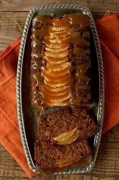 Toffee apple gingerbread loaf cake - Domestic Gothess
