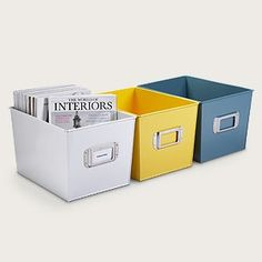 Bright Metal Storage Bins | Shop home, home_organizing,cleaning| Kaboodle