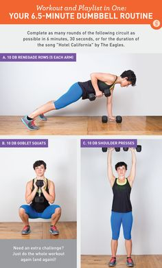 Workout and Playlist in One: Your 6.5-Minute Dumbbell Routine