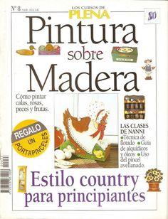 Revistas de Manualidades Para Descargar: Pintura sobre Madera Nº 8