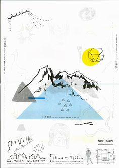 poster design graphism la montagne the mountain Dm Poster, Poster Layout, Design Poster, Simple Poster Design, Poster Designs, Graphic Design Typography, Graphic Design Illustration, Graphic Art, Mountain Illustration