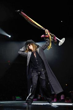 Steven Tyler of Aerosmith performs during the opening night of their Global Warming Tour at the Target Center in Minneapolis, Minnesota on June 16th, 2012.